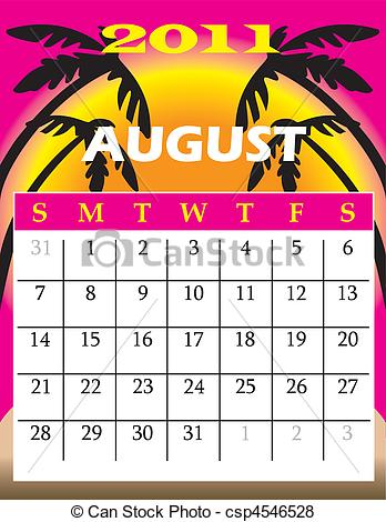 Vector of August 2011.
