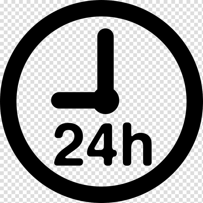 24hour Clock transparent background PNG cliparts free.