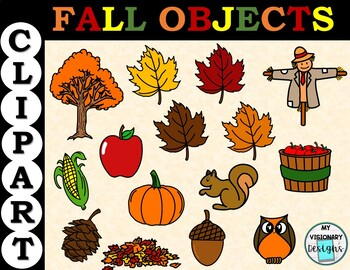 Fall Objects Clipart.
