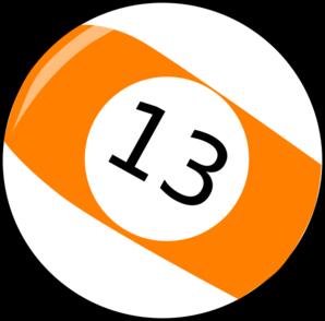Thirteen Billiard Ball Clip Art at Clker.com.