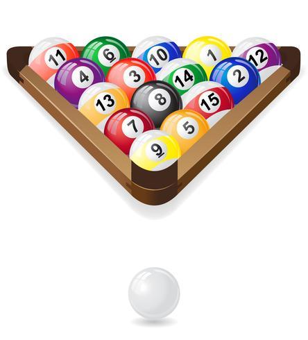 billiards balls vector illustration.