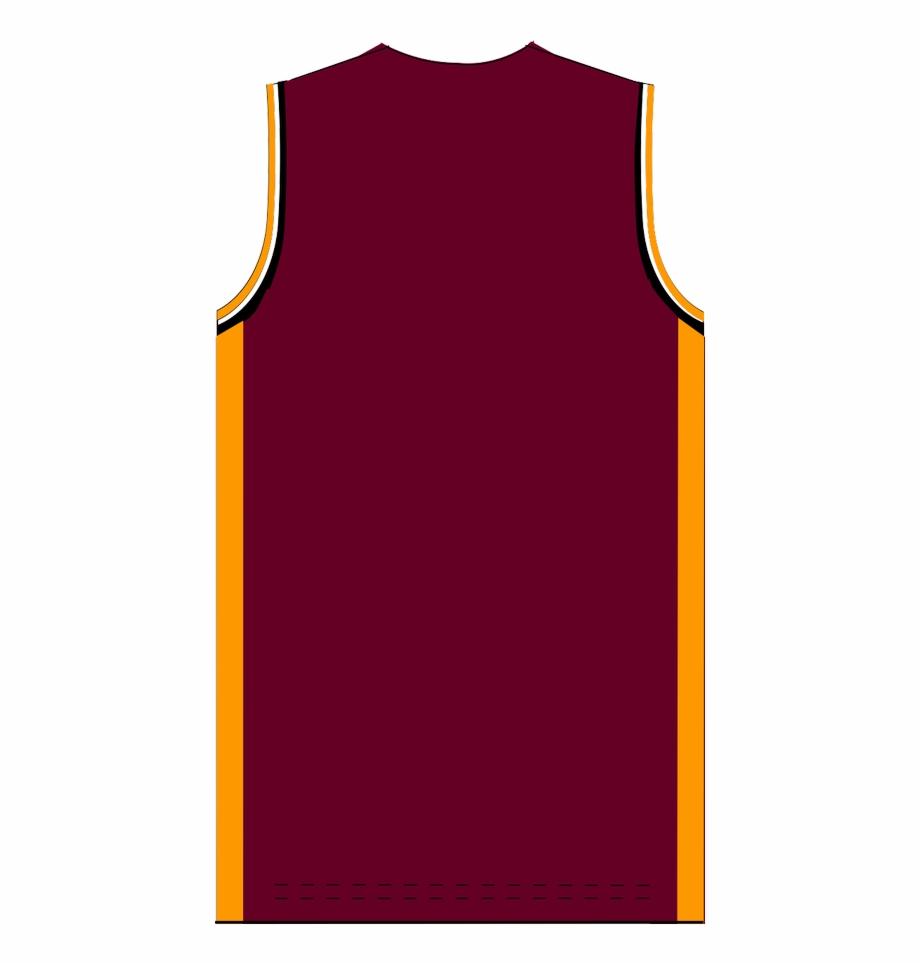 Maroon Basketball Jersey Blank.