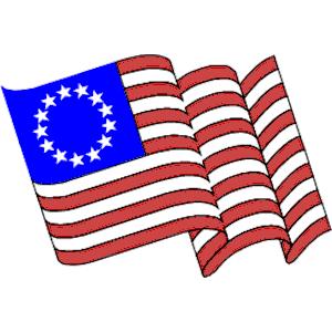Betsy Ross Flag Clipart.