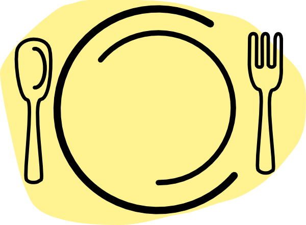 Iammisc Dinner Plate With Spoon And Fork Clip art.