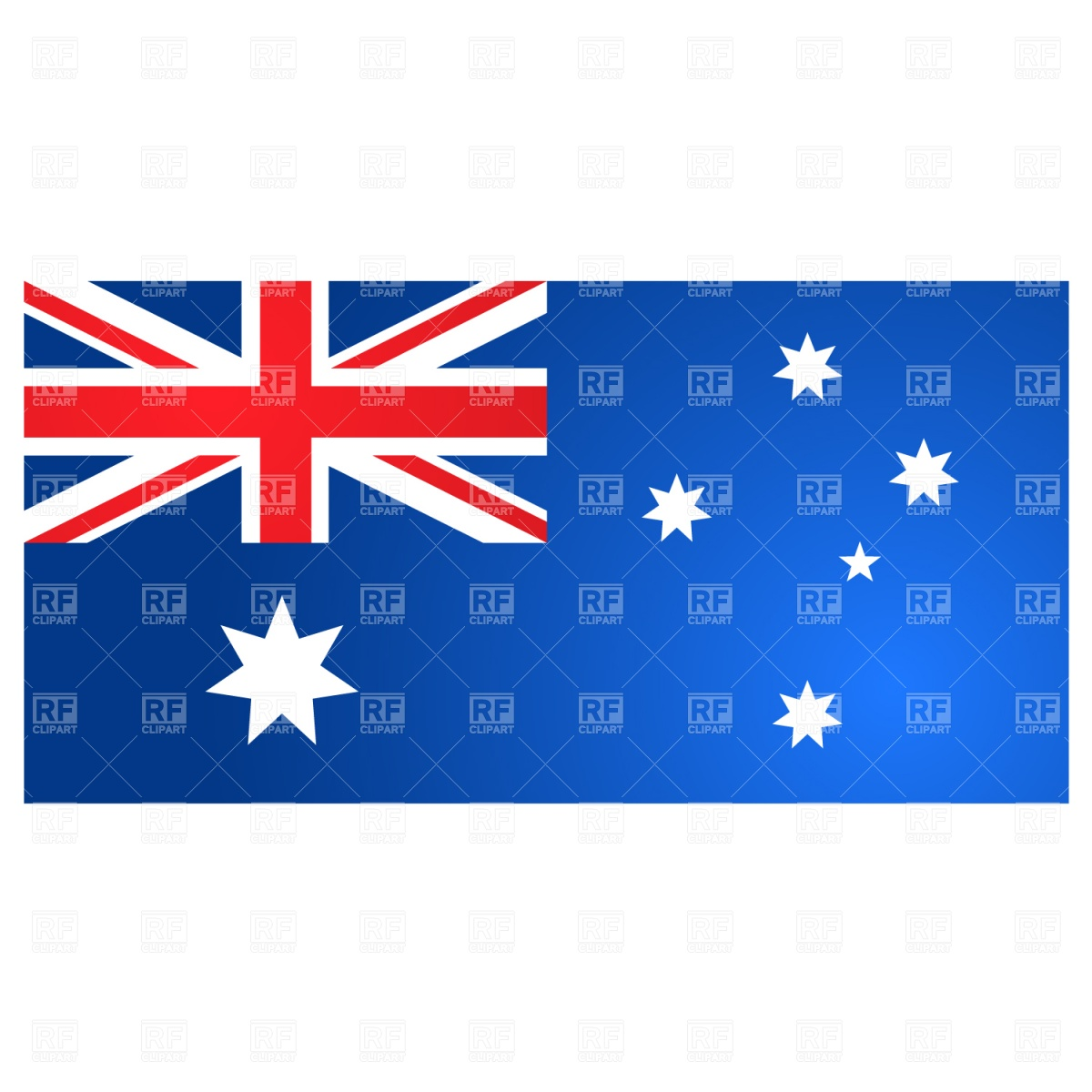 Australia flag Vector Image #1394.