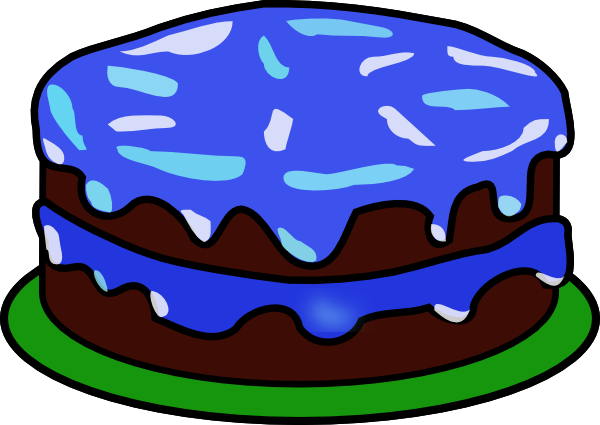 20art birthday cake clip art no candles Blue Birthday Cake Clipart.