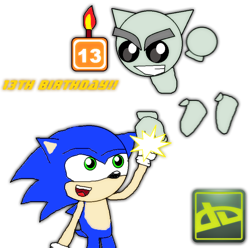 deviantART 13th Birthday Celebration by Knux95 on Clipart.