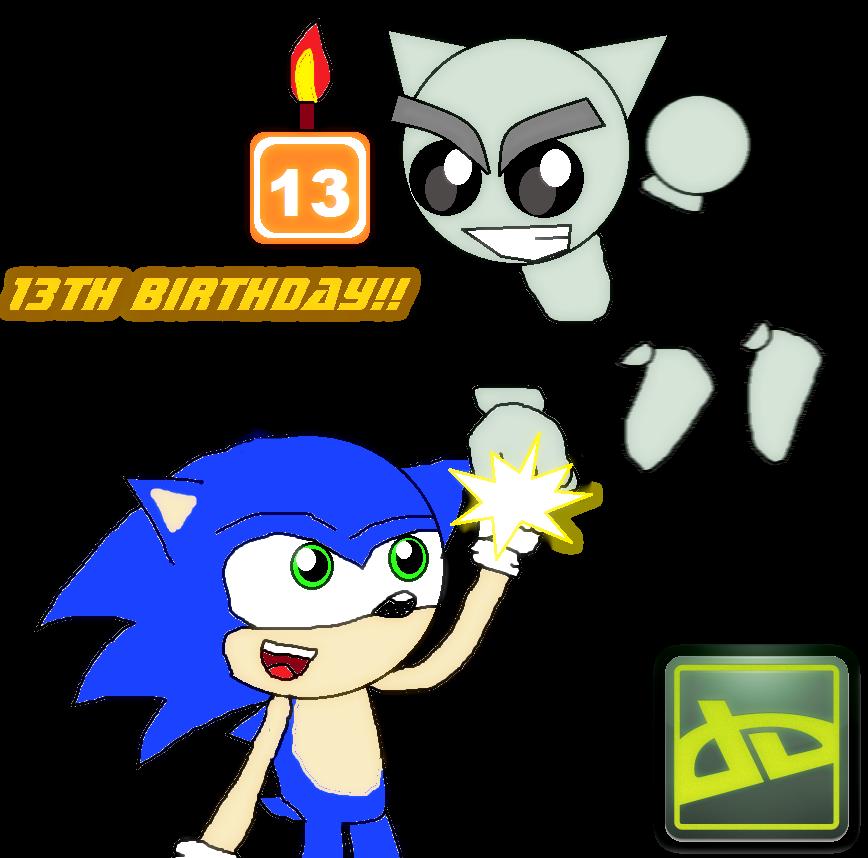 deviantART 13th Birthday Celebration by Knux95 on Clipart.