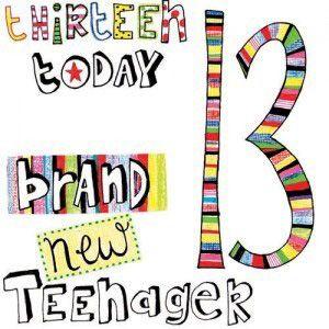 13th Birthday Cards A.