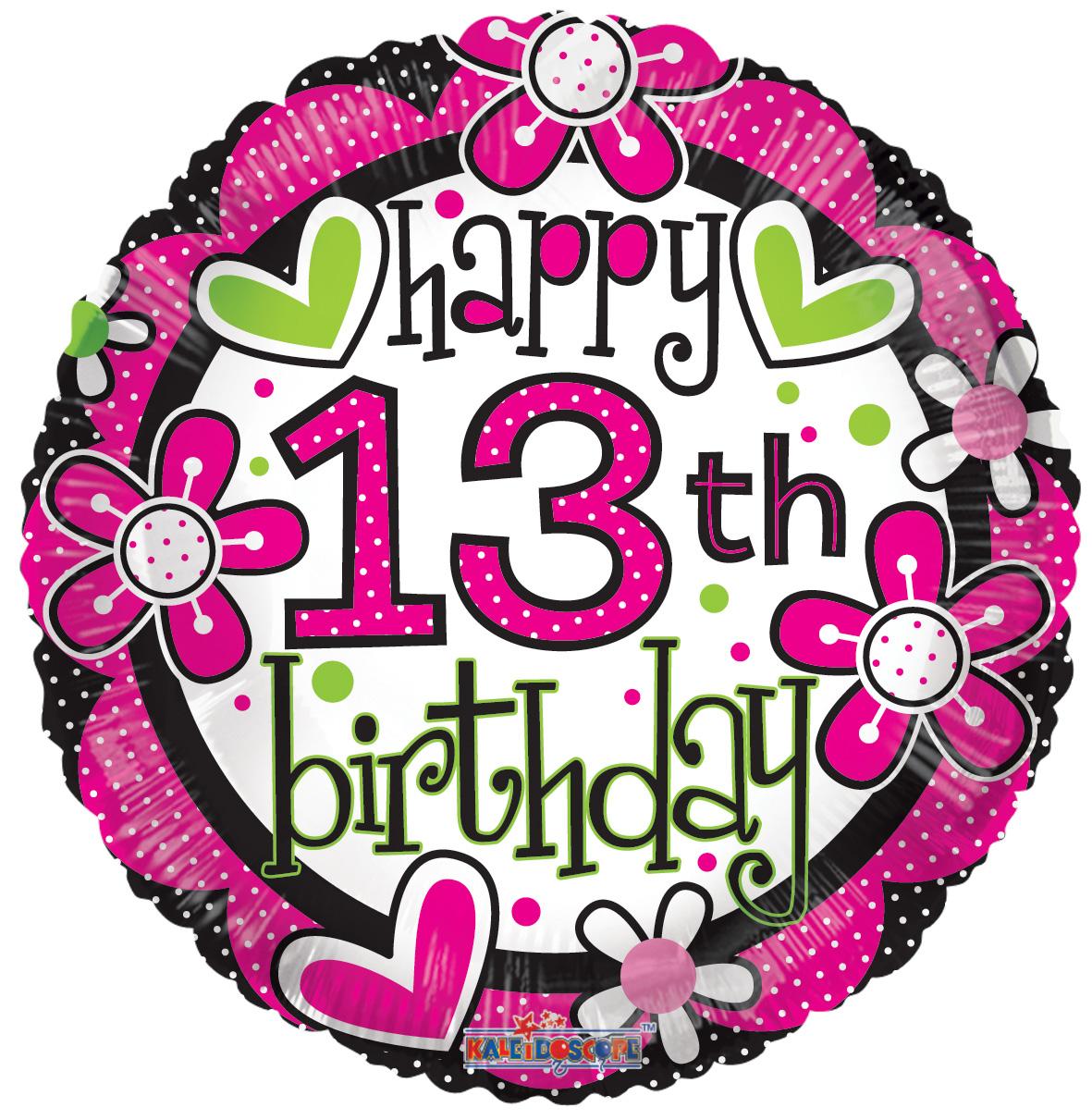 Happy 13th Birthday Clipart.