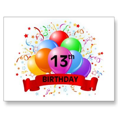 13 Birthday Clipart.