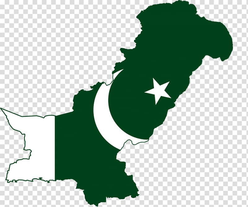 Green and white map illustration, Flag of Pakistan World map.