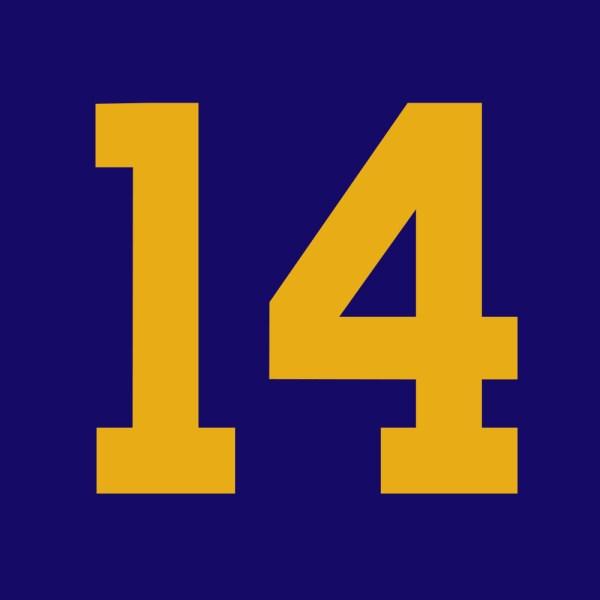 Number 14 clip art.