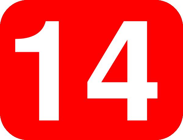 Number 14 Red Background Clip Art at Clker.com.