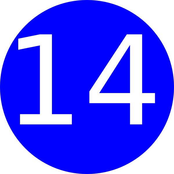 Number 14 Blue Background Clip Art At Clker Com Vector.