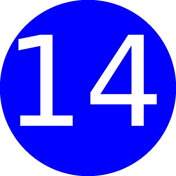 Number 14 Blue Background Clip Art At Clker Com Vector.