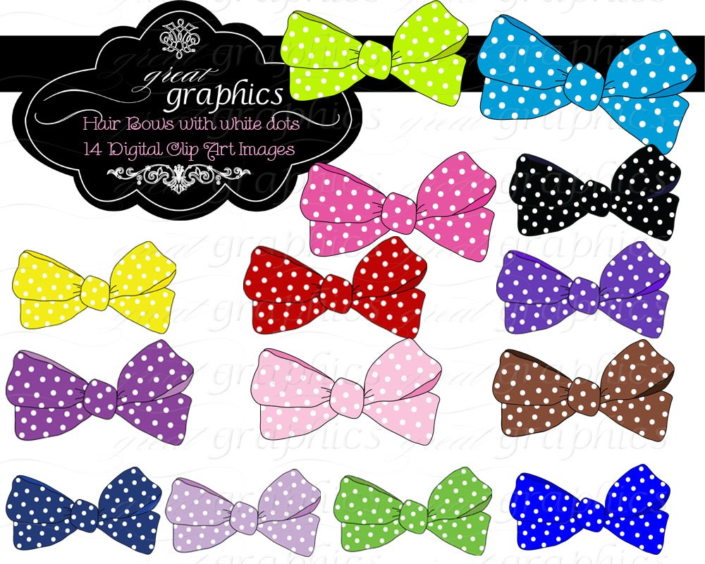 Popular items for clip art bows on Etsy.