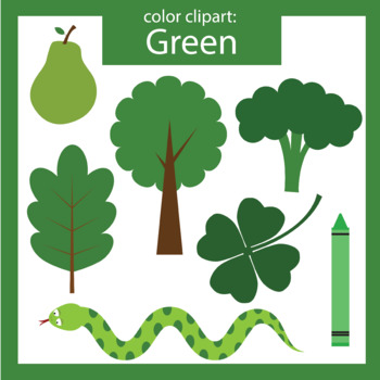 Color Clip art: green objects.