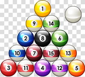 Three 1, 8, and 3 billiard balls art, 8 Ball Pool Billiard.