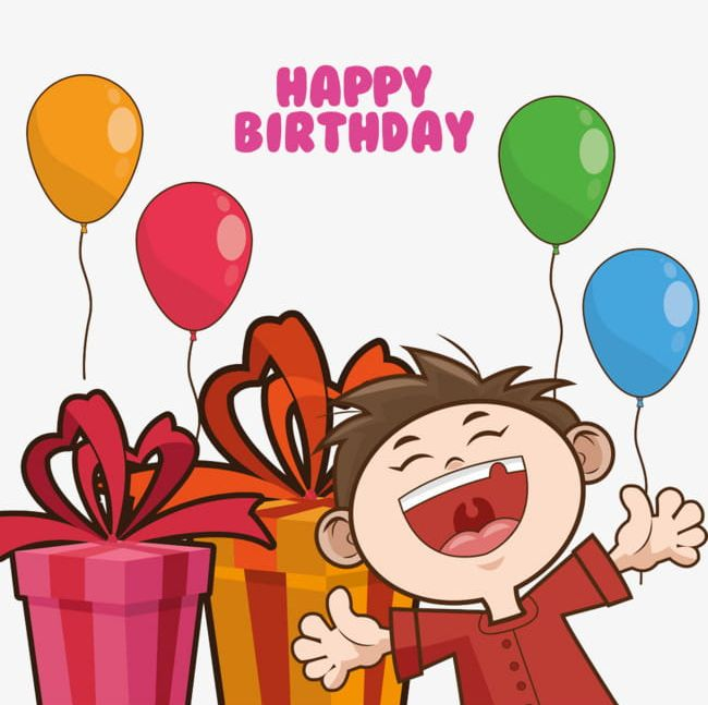 Cartoon Boy And Gifts PNG, Clipart, Balloons, Birthday.