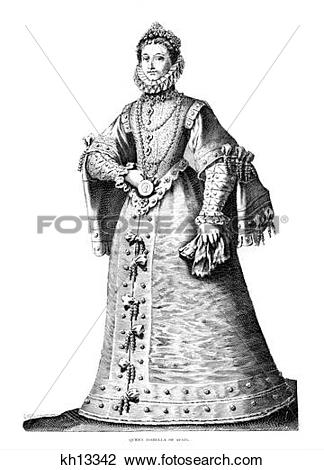 Stock Photo of 1400S 1500S 1490S Queen Isabella Spain Sponsored.