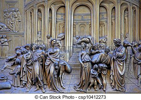 Picture of Ghiberti Paradise Baptistery Bronze Door Duomo.