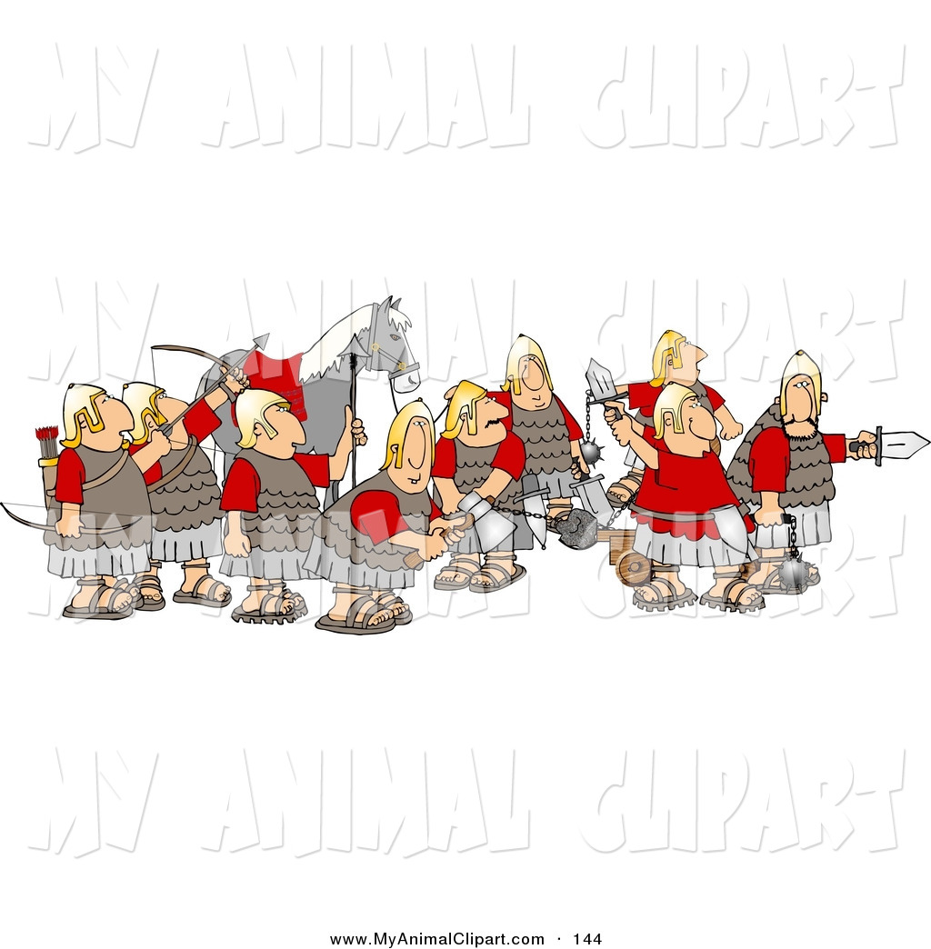 Medieval Army Clipart.