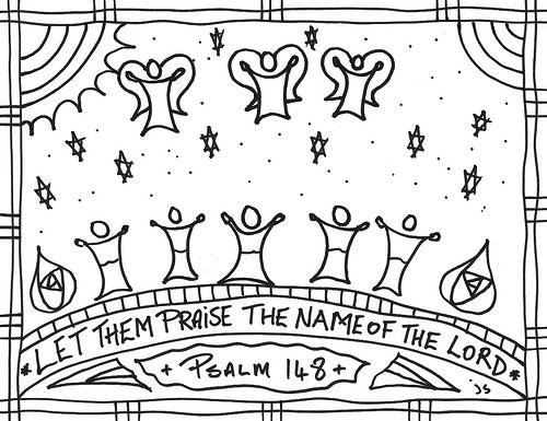 Psalm 148 clip art.