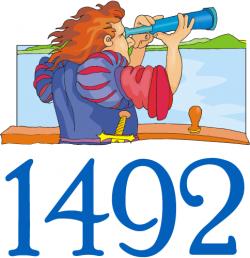 Columbus Day 1492 Graphic.