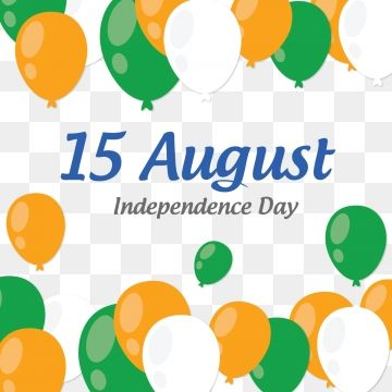 15 August Indian Independence Day Balloon Flying Backgrounds.