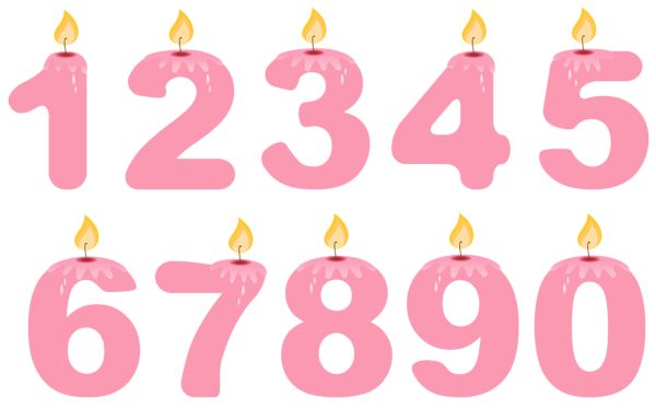 15 Birthday Candles Clipart.