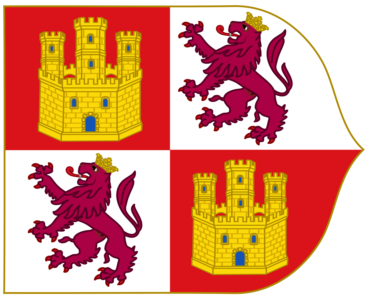 File:Royal Banner of the Crown of Castille (15th Century Style.