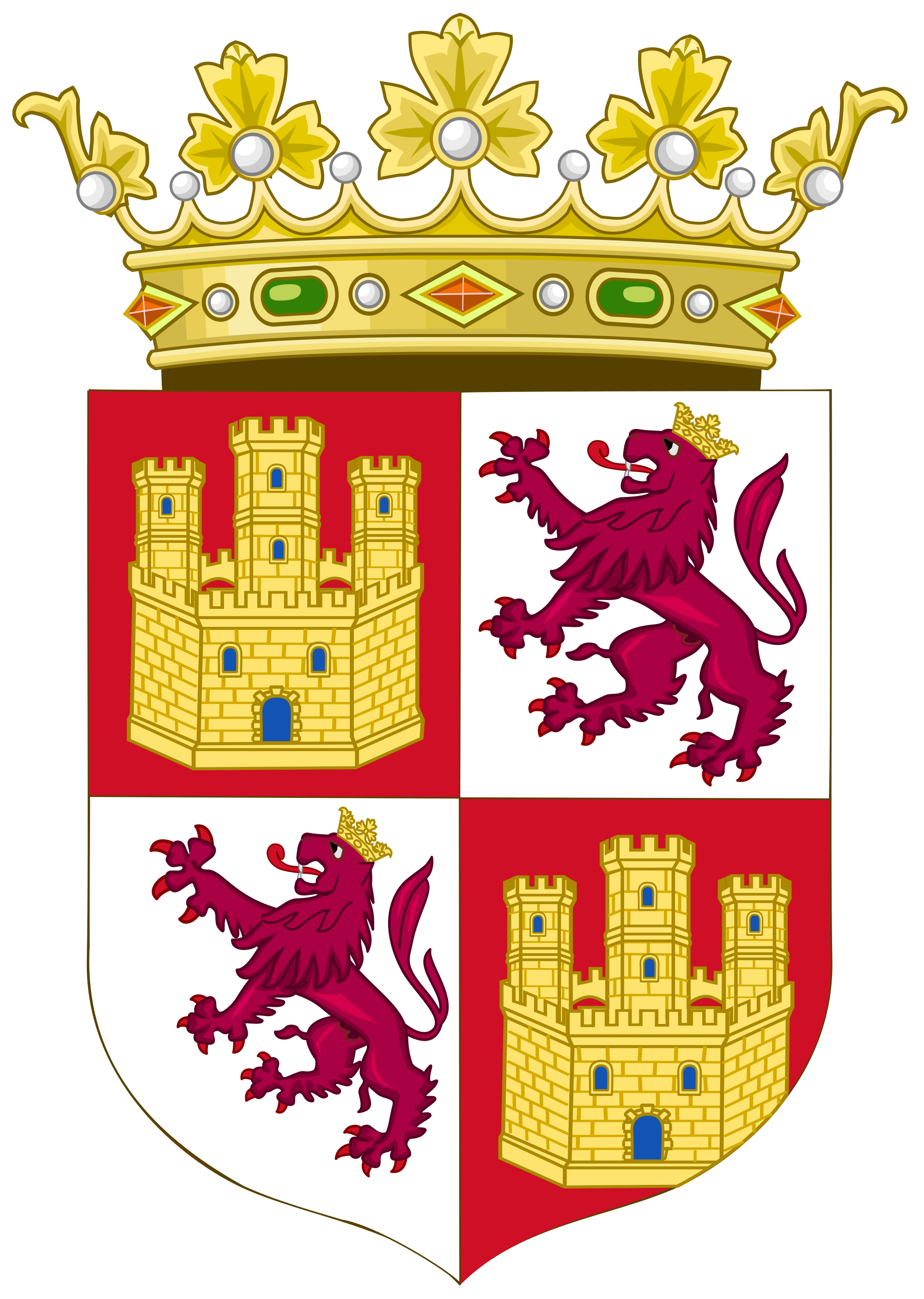 File:Royal Coat of Arms of the Crown of Castile (15th Century).svg.