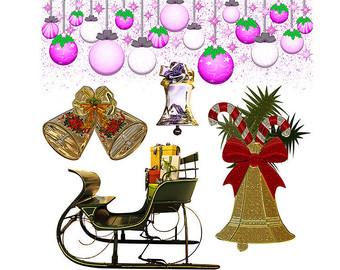 Items similar to 15 Christmas Tree Clip Art Clipart Xmas Tree Blue.