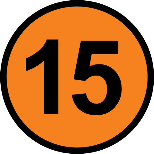 Number 15 clipart.