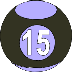 Billard Ball 15 Clip Art at Clker.com.