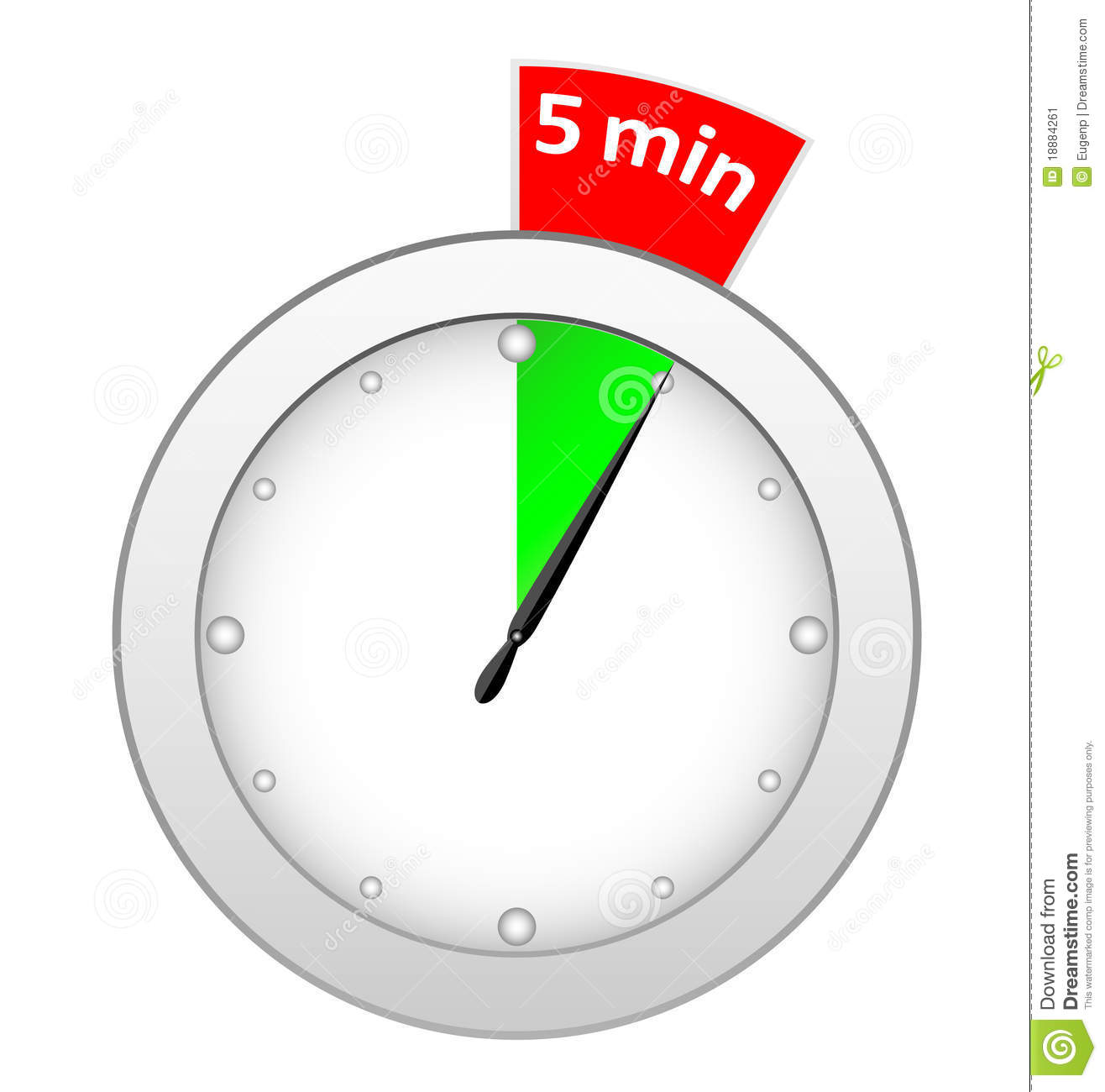 5 Minute Timer Clipart.