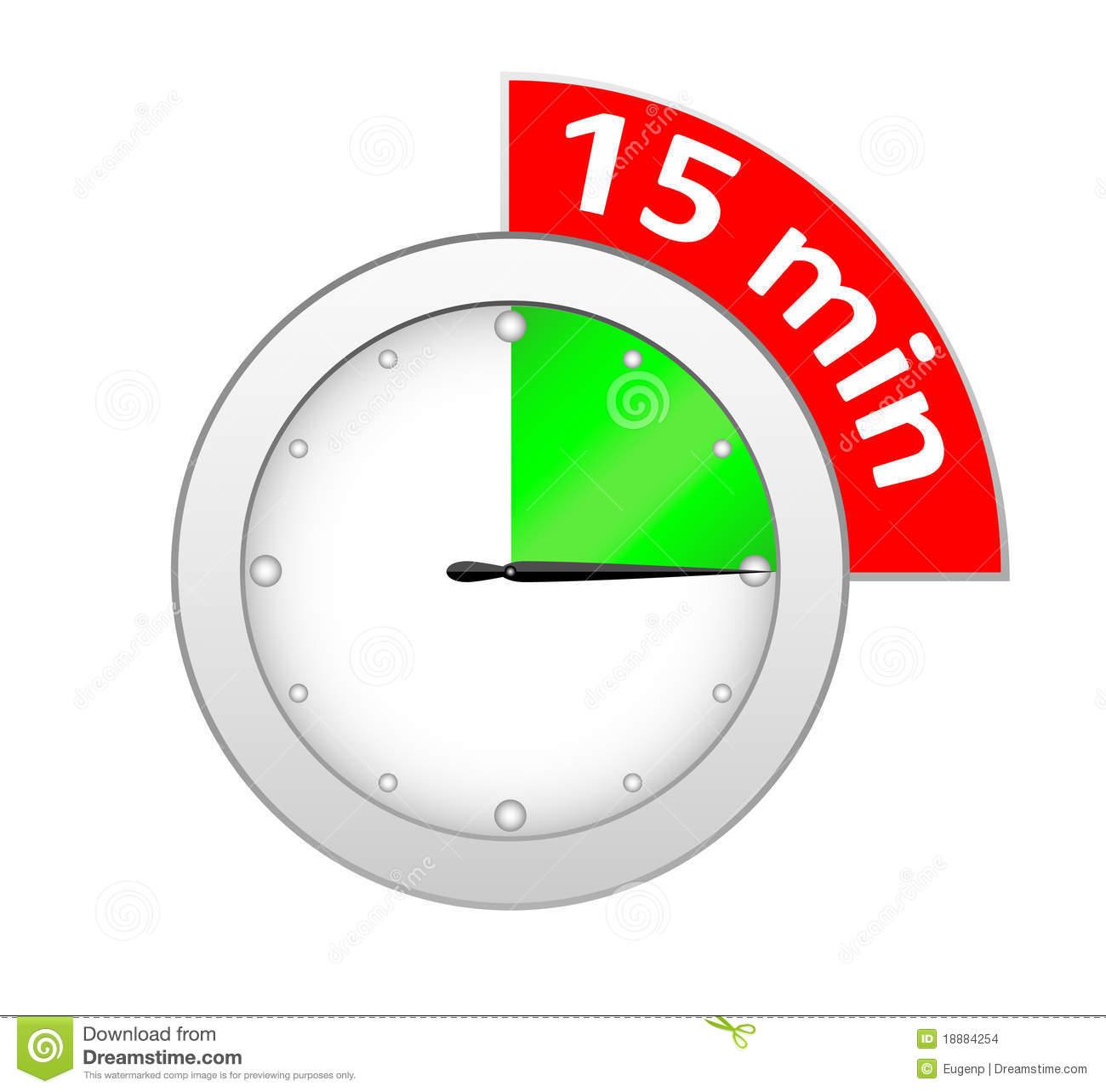Timer 15 minutes stock vector. Illustration of number.