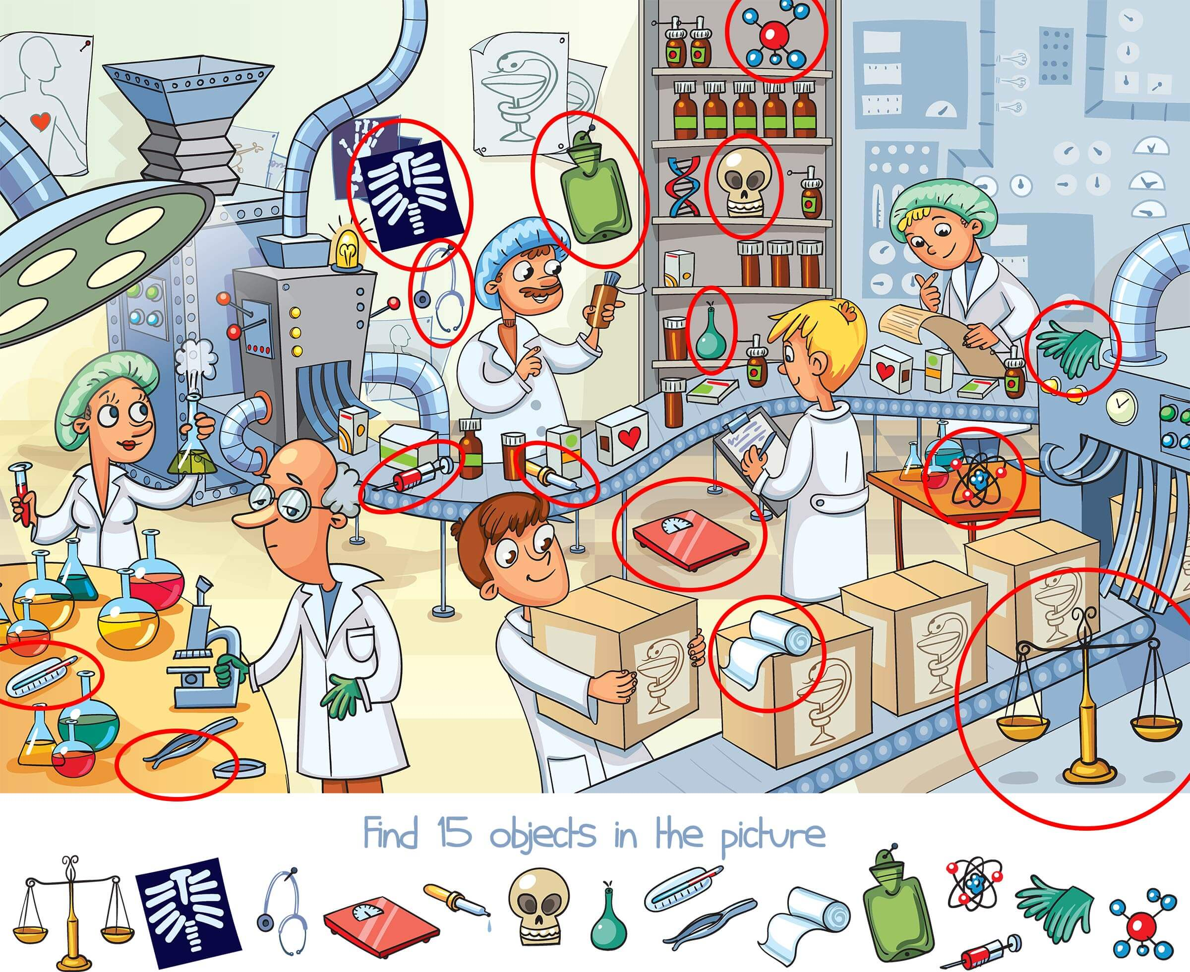 Can You Find the 15 Objects Hidden in This Picture.