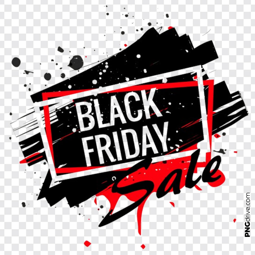 Black Friday Sale Clipart Vector PNG Image.