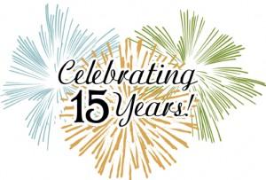 15 Year Anniversary Clipart.