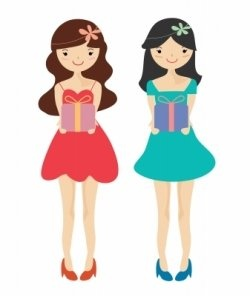 15 year old girl clipart.