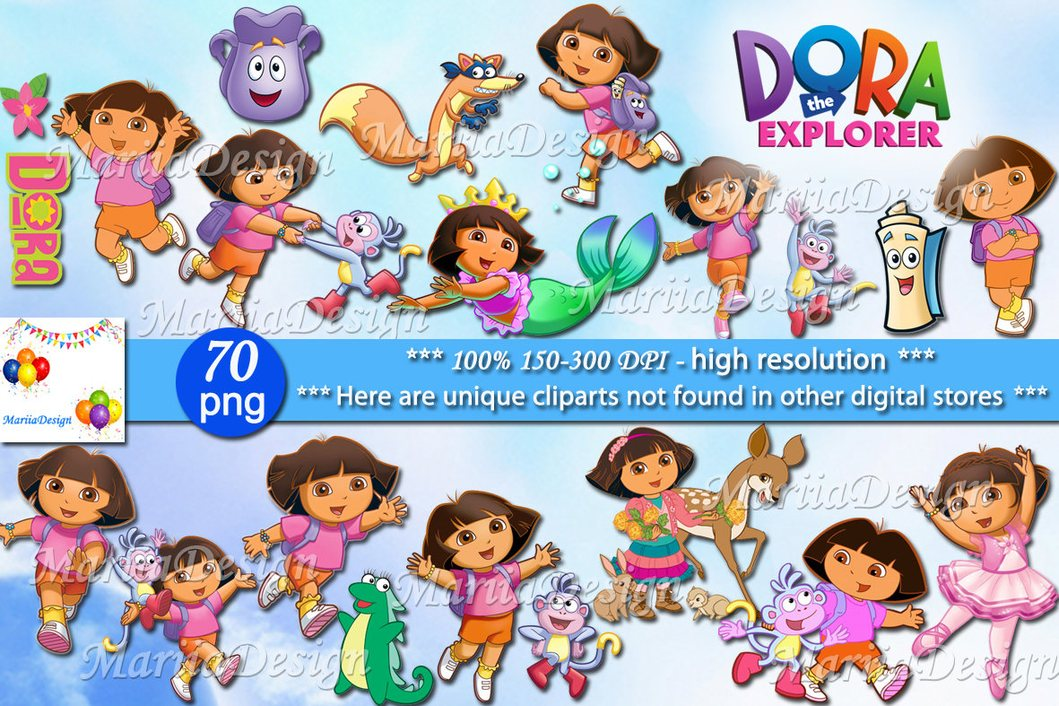 Dora the explorer Clipart, 70 PNG, 150.
