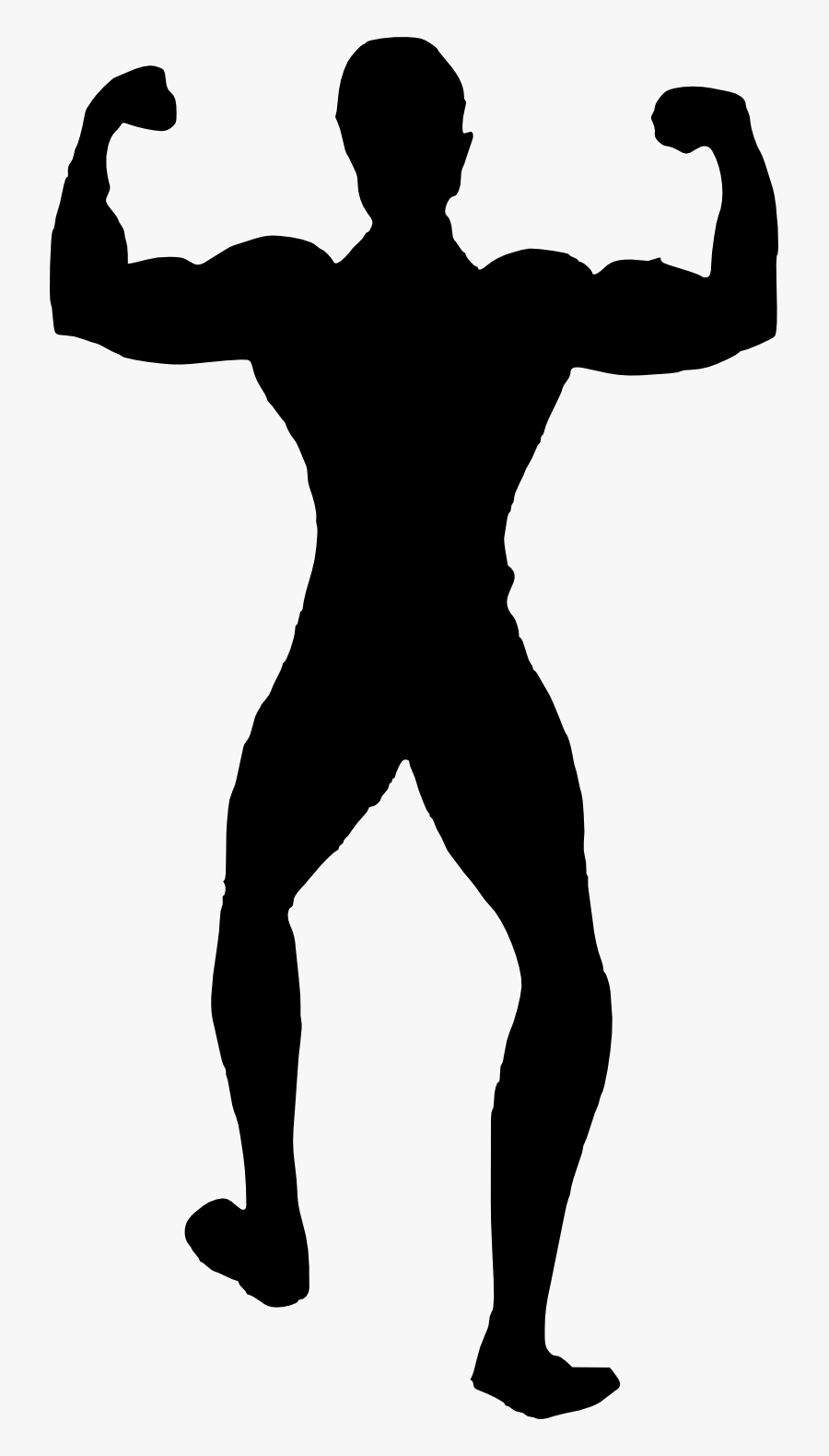 Muscle Man Bodybuilder Silhouette Png Free Png Images , Free.