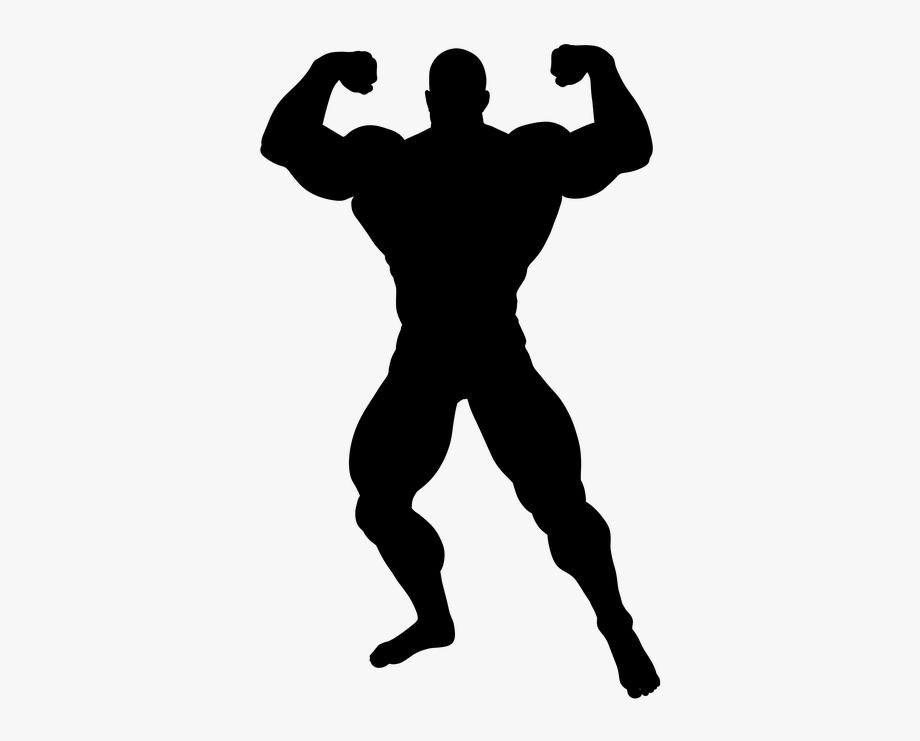 Bodybuilder Silhouette Png.