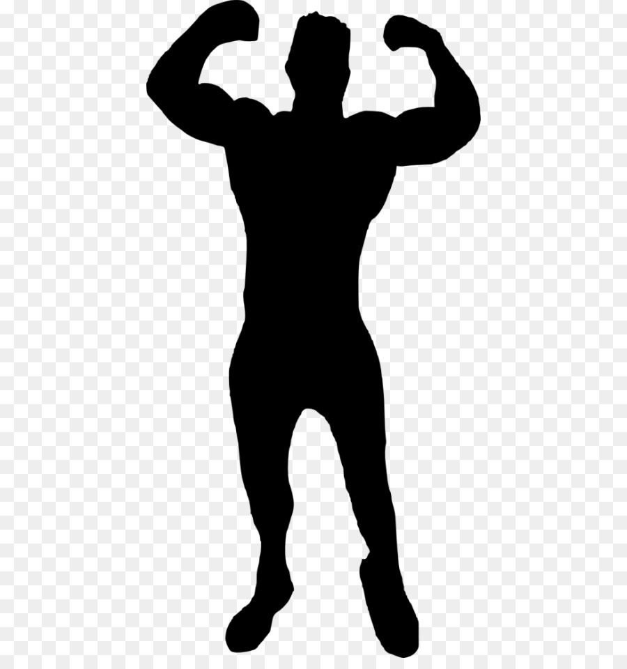 Silhouette Bodybuilding Muscle.