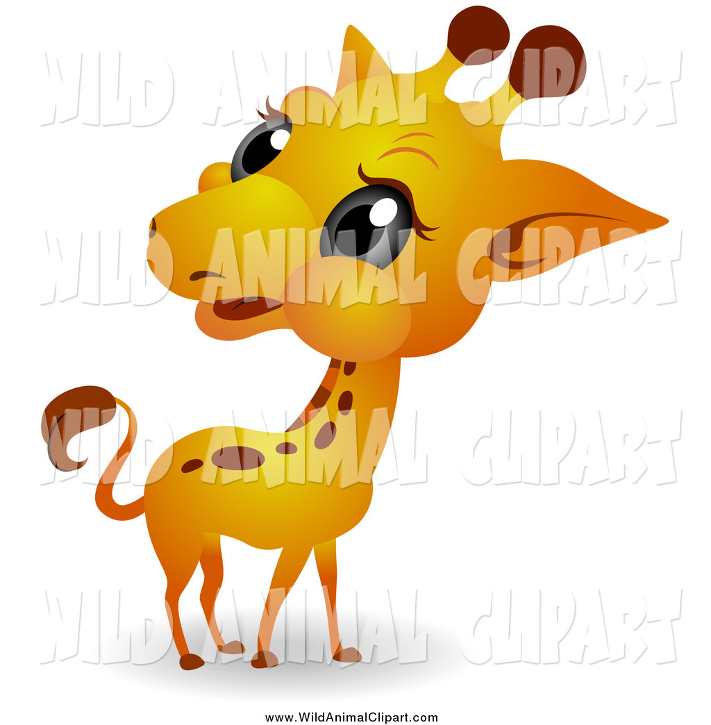 Clip Art of a Big Head Baby Giraffe by BNP Design Studio.