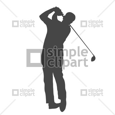 Golf player silhouette Vector Image #1511.