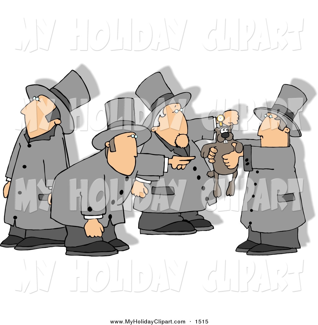 Clip Art of Old Fashioned Men with Shadows, Holding up the.