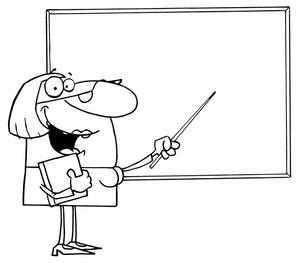 Black Teacher Clipart.